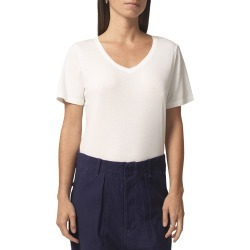 Women's Citizens Of Humanity Melany V-Neck Short Sleeve Bodysuit, Size Small - White found on MODAPINS from LinkShare USA for USD $128.00