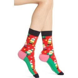 Women's Happy Socks Santa Gnome Crew Socks, Size One Size - Red found on MODAPINS from Nordstrom for USD $14.00