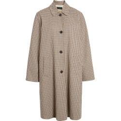 Women's Nili Lotan Watson Plaid Duster Coat, Size Large - Beige found on Bargain Bro India from Nordstrom for $895.00