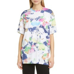 Women's Moschino Paint Print Oversized T-Shirt, Size Small - White found on Bargain Bro Philippines from Nordstrom for $395.00