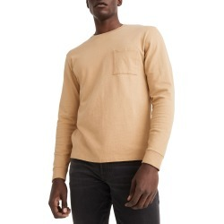 Men's Madewell Relaxed Long Sleeve Organic Cotton T-Shirt, Size Small - Brown found on Bargain Bro from Nordstrom for USD $36.48