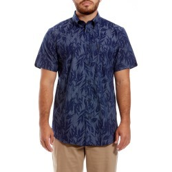 Men's Ben Sherman Leafy Print Sport Shirt, Size Large - Blue found on MODAPINS from Nordstrom for USD $59.00