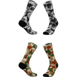 Women's Tribe Socks Assorted 2-Pack Grey & Classic Camo Cats Crew Socks, Size One Size - Grey found on MODAPINS from Nordstrom for USD $25.00