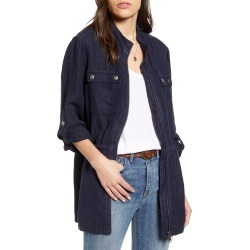 Women's Treasure & Bond Linen Blend Field Jacket, Size XX-Small - Blue found on Bargain Bro India from LinkShare USA for $32.70