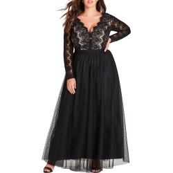 Plus Size Women's City Chic Rare Beauty Maxi Dress