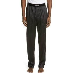 Men's Tom Ford Stretch Silk Pajama Pants, Size X-Large - Black found on Bargain Bro from Nordstrom for USD $524.40