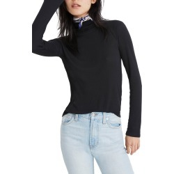 Women's Madewell Fine Rib Turtleneck, Size XX-Small - Black found on MODAPINS from Nordstrom for USD $45.00