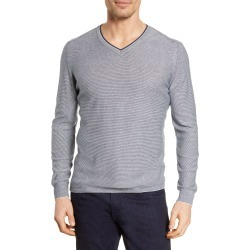 Men's Bugatchi Microstripe V-Neck Sweater found on MODAPINS from LinkShare USA for USD $59.99