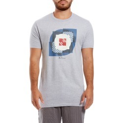 Men's Ben Sherman Square Target Graphic Crewneck T-Shirt, Size Medium - Grey found on MODAPINS from Nordstrom for USD $35.00