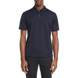 Men's Bottega Veneta Short Sleeve Pique Polo, Size 48 EU - Blue found on MODAPINS from LinkShare USA for USD $480.00