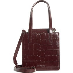 Marge Sherwood Square Croc Embossed Leather Bag - Purple found on Bargain Bro Philippines from Nordstrom for $465.00