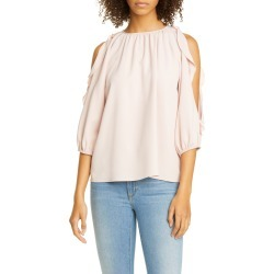 Women's Red Valentino Ruffle Cold Shoulder Top, Size 00 US - Pink found on MODAPINS from Nordstrom for USD $425.00