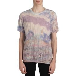 Men's Amiri Distressed Tie Dye Cashmere Sweater, Size XX-Large - Beige found on MODAPINS from LinkShare USA for USD $345.00