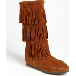 Women's Minnetonka 3-Layer Fringe Boot found on MODAPINS from Nordstrom for USD $99.95