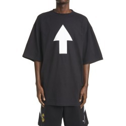 Men's Balenciaga Wifi Arrow Oversize Graphic Tee, Size X-Small - Black found on MODAPINS from Nordstrom for USD $650.00