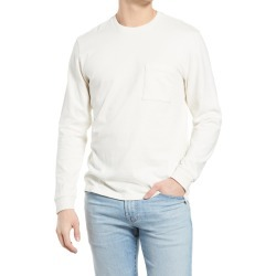 Men's Madewell Relaxed Long Sleeve Organic Cotton T-Shirt, Size X-Large - Ivory found on Bargain Bro from Nordstrom for USD $36.48