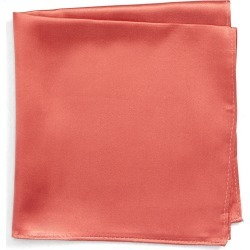 Men's Nordstrom Men's Shop Solid Silk Pocket Square, Size One Size - Coral found on Bargain Bro Philippines from Nordstrom for $12.49