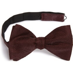 Men's Eton Solid Silk Blend Bow Tie, Size One Size - Burgundy found on Bargain Bro India from Nordstrom for $145.00