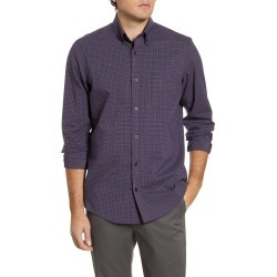 Men's Nordstrom Men's Shop Regular Fit Minicheck Button-Down Performance Shirt, Size Small - Blue found on Bargain Bro India from Nordstrom for $34.75