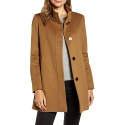 Women's Fleurette Stand Collar Wool Car Coat, Size 2 - Brown (Nordstrom Exclusive)