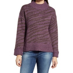 Women's Wit & Wisdom Zebra Jacquard Sweater, Size Large - Purple (Nordstrom Exclusive) found on Bargain Bro from Nordstrom for USD $35.57