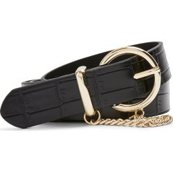 Women's Topshop Croc Chain Belt, Size X-Small/Small - Black found on Bargain Bro Philippines from Nordstrom for $35.00