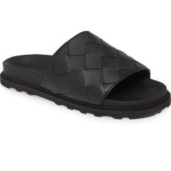 Men's Bottega Veneta Woven Slide Sandal, Size 7US / 40EU - Black found on Bargain Bro India from Nordstrom for $690.00