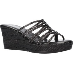 Women's Tuscany By Easy Street Luciana Wedge Slide Sandal, Size 9.5 N - Metallic found on Bargain Bro Philippines from Nordstrom for $60.00