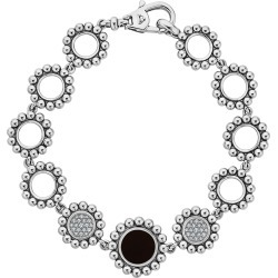 Women's Lagos Maya Onyx & Diamond Circle Link Bracelet found on Bargain Bro Philippines from Nordstrom for $1300.00
