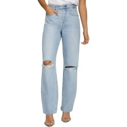 Women's Good American Good '90S Ripped High Waist Relaxed Jeans, Size 4 - Blue found on MODAPINS from Nordstrom for USD $149.00