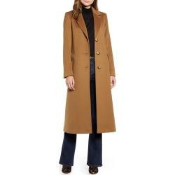 Women's Fleurette Notch Collar Wool Maxi Coat, Size 10 - Brown (Nordstrom Exclusive)