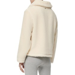 Women's Marc New York Mixed Media Faux Shearling Jacket, Size Large - Beige found on Bargain Bro India from Nordstrom for $129.00