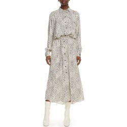 Women's Kenzo Cheetah Print Long Sleeve Midi Shirtdress, Size 8 US - Ivory found on MODAPINS from Nordstrom for USD $625.00