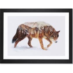 Icanvas 'Arctic Wolf' Framed Fine Art Print