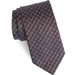 Men's Brioni Grid Silk Tie, Size One Size - Brown found on MODAPINS from LinkShare USA for USD $135.00