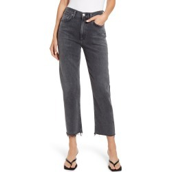 Women's Citizens Of Humanity Daphne High Waist Raw Hem Crop Stovepipe Jeans, Size 23 - Black found on Bargain Bro Philippines from Nordstrom for $198.00
