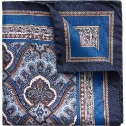 Men's Eton Paisley Silk Pocket Square, Size One Size - Blue found on Bargain Bro Philippines from Nordstrom for $65.00
