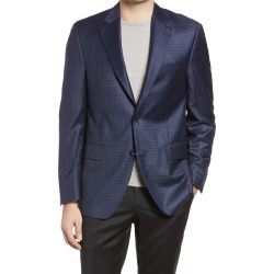 Men's Peter Millar Flynn Classic Fit Check Wool Sport Coat, Size 44 Short - Blue found on MODAPINS from Nordstrom for USD $645.00
