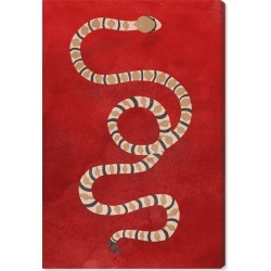 Oliver Gal Ruby Snake Canvas Wall Art