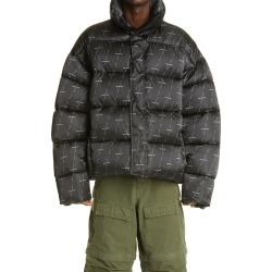 Men's Balenciaga License Logo Puffer Coat, Size 38 US - Black found on MODAPINS from Nordstrom for USD $2450.00