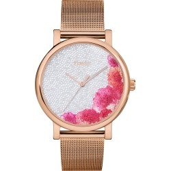 Women's Timex Full Bloom Crystal Floral Mesh Strap Watch, 38mm found on Bargain Bro India from LinkShare USA for $109.00