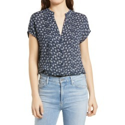 Women's Treasure & Bond Allover Print Short Sleeve Top, Size X-Small - Blue found on MODAPINS from Nordstrom for USD $49.00
