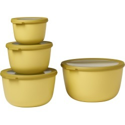 Rosti Mepal Cirqula Set Of 4 Storage Bowls, Size One Size - Yellow found on Bargain Bro India from LinkShare USA for $70.00