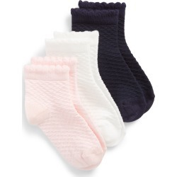 Toddler Girl's Tucker + Tate 3-Pack Diamond Pointelle Ankle Socks, Size 4.5-8.5 - Pink found on Bargain Bro Philippines from Nordstrom for $12.00