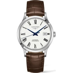 Longines Record Alligator Leather Strap Automatic Watch, 40mm found on MODAPINS from Nordstrom for USD $2025.00
