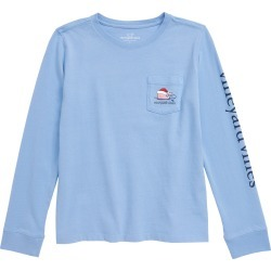 Toddler Girl's Vineyard Vines Surfboard Christmas Whale Pocket Tee, Size 4T - Blue found on Bargain Bro Philippines from Nordstrom for $32.50