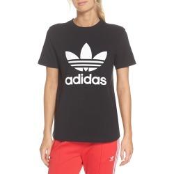 Women's Adidas Trefoil Tee, Size Small - Black