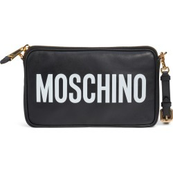 Moschino Logo Leather Clutch - Black found on Bargain Bro India from LinkShare USA for $510.00