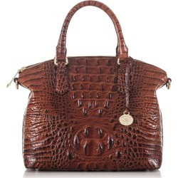Brahmin Duxbury Croc Embossed Leather Satchel - Brown found on Bargain Bro India from Nordstrom for $275.00
