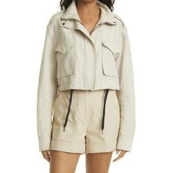 Women's Rag & Bone Crop Linen Blend Field Jacket, Size X-Large - Beige found on Bargain Bro from Nordstrom for USD $300.20
